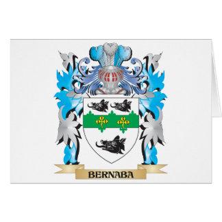 Escudo de armas de Bernaba Tarjeta