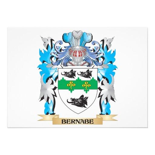 Escudo de armas de Bernabe Invitación