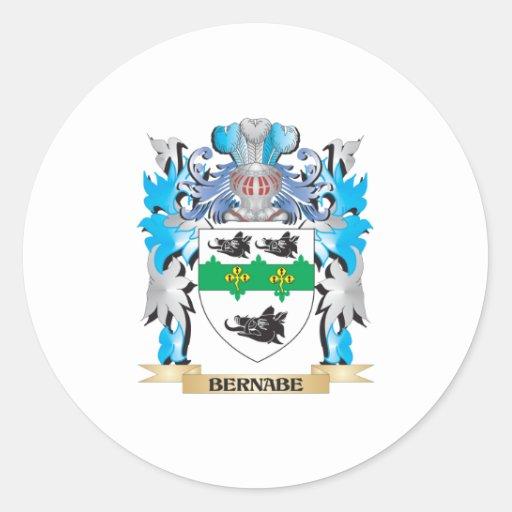 Escudo de armas de Bernabe Pegatinas Redondas