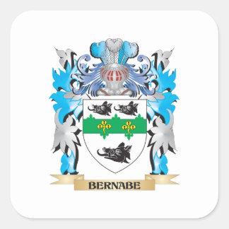 Escudo de armas de Bernabe Colcomanias Cuadradas Personalizadas