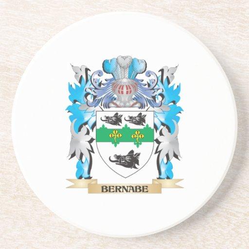 Escudo de armas de Bernabe Posavasos Cerveza