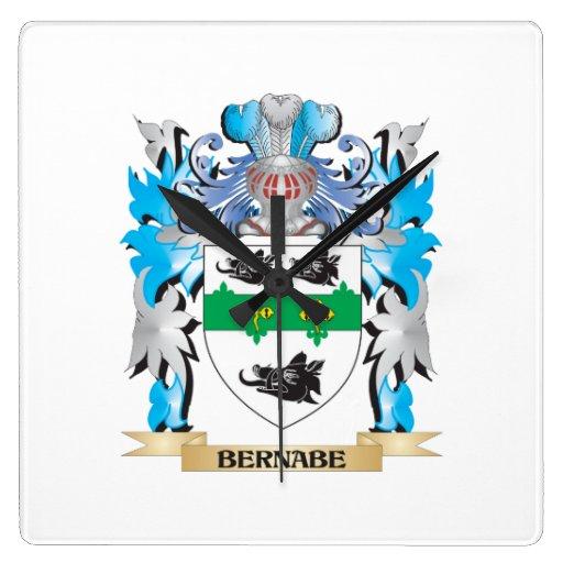 Escudo de armas de Bernabe Reloj