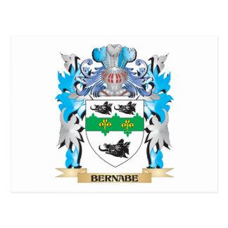 Escudo de armas de Bernabe Tarjeta Postal