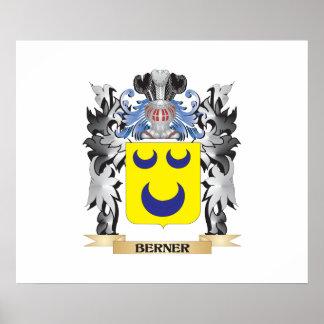 Escudo de armas de Berner - escudo de la familia Póster