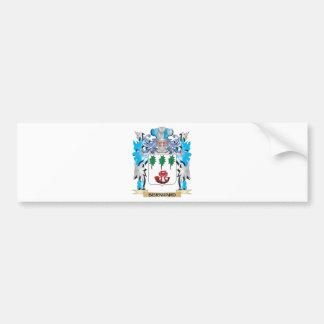 Escudo de armas de Bernhard Pegatina Para Coche