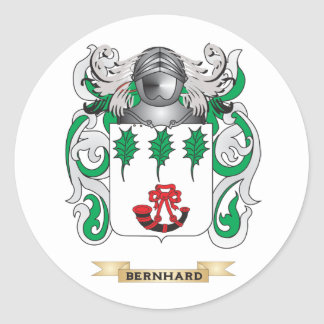 Escudo de armas de Bernhard (escudo de la familia) Pegatina Redonda