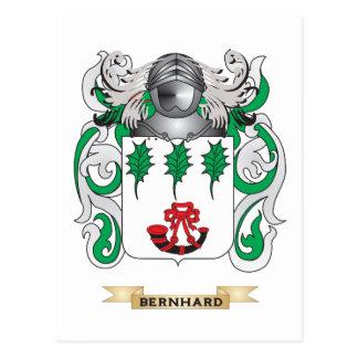 Escudo de armas de Bernhard (escudo de la familia) Tarjetas Postales