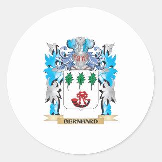 Escudo de armas de Bernhard Pegatina Redonda