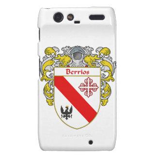 Escudo de armas de Berrios escudo de la familia Motorola Droid RAZR Fundas