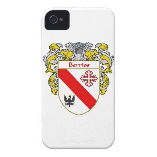 Escudo de armas de Berrios/escudo de la familia iPhone 4 Case-Mate Protector