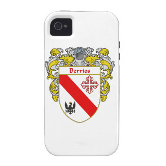 Escudo de armas de Berrios escudo de la familia Case-Mate iPhone 4 Fundas