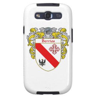 Escudo de armas de Berrios escudo de la familia Galaxy S3 Protectores