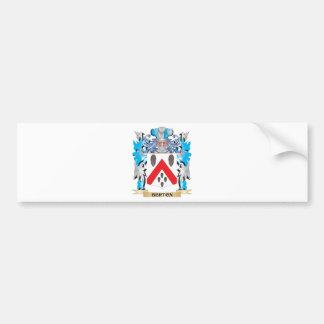 Escudo de armas de Berton Etiqueta De Parachoque