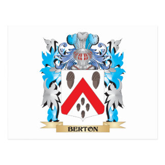 Escudo de armas de Berton Tarjeta Postal