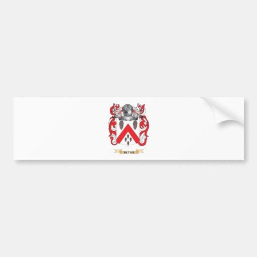 Escudo de armas de Bethe (escudo de la familia) Pegatina De Parachoque