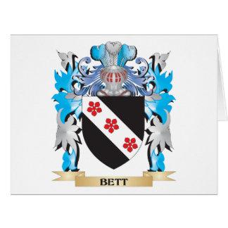 Escudo de armas de Bett Tarjeton