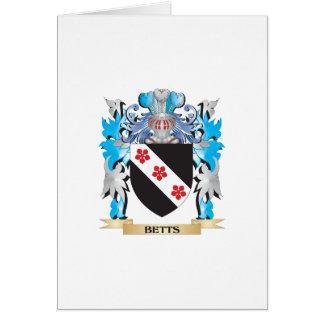 Escudo de armas de Betts Tarjeta