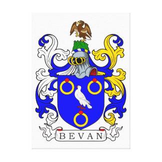 Escudo de armas de Bevan Lona Envuelta Para Galerías