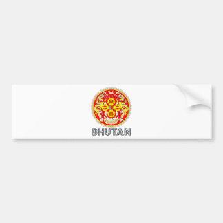 Escudo de armas de Bhután Etiqueta De Parachoque
