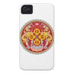 Escudo de armas de Bhután iPhone 4 Case-Mate Coberturas