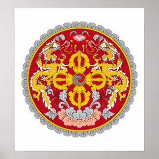 Escudo de armas de Bhután Impresiones
