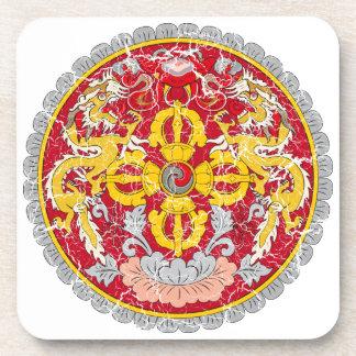 Escudo de armas de Bhután Posavasos De Bebida