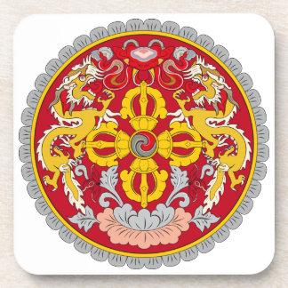 Escudo de armas de Bhután Posavasos De Bebidas