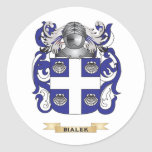 Escudo de armas de Bialek (escudo de la familia) Pegatina Redonda