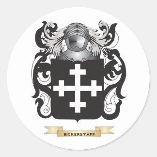 Escudo de armas de Bickerstaff (escudo de la Etiquetas Redondas