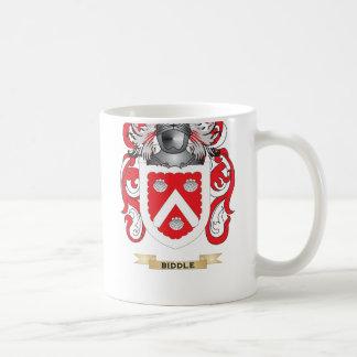 Escudo de armas de Biddle (escudo de la familia) Taza