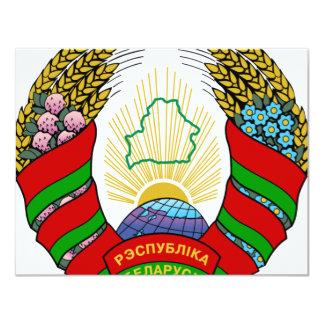 """Escudo de armas de Bielorrusia Invitación 4.25"""" X 5.5"""""""