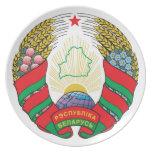 Escudo de armas de Bielorrusia Platos