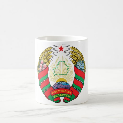 Escudo de armas de Bielorrusia Tazas