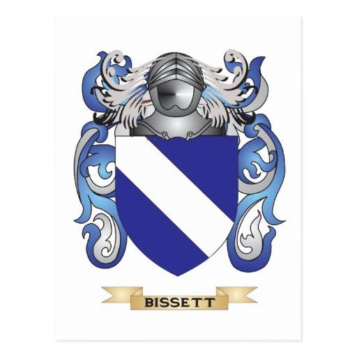 Escudo de armas de Bissett (escudo de la familia) Postales