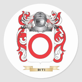Escudo de armas de Biti (escudo de la familia) Etiquetas Redondas