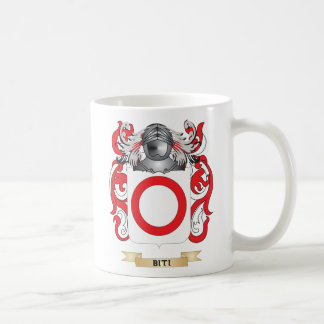 Escudo de armas de Biti (escudo de la familia) Tazas De Café