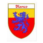 Escudo de armas de Blanco/escudo de la familia Tarjeta Postal