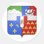 Escudo de armas de Blason Réunion Etiquetas