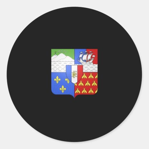 Escudo de armas de Blason Réunion Pegatinas