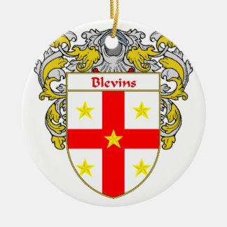 Escudo de armas de Blevins/escudo de la familia Adorno Redondo De Cerámica