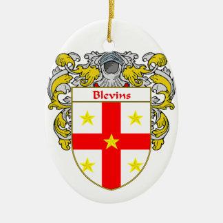 Escudo de armas de Blevins/escudo de la familia Adorno Ovalado De Cerámica