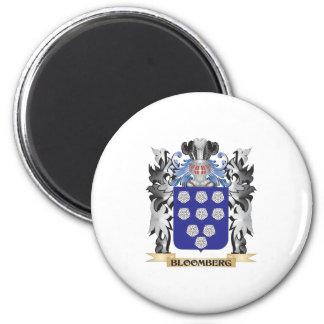 Escudo de armas de Bloomberg - escudo de la Imán Redondo 5 Cm