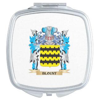 Escudo de armas de Blount Espejo Maquillaje