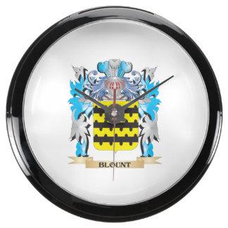 Escudo de armas de Blount Relojes Acuario