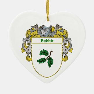 Escudo de armas de Bobbitt/escudo de la familia Adorno De Cerámica En Forma De Corazón