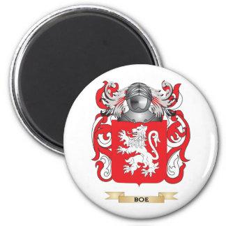 Escudo de armas de Boe (escudo de la familia) Imán Redondo 5 Cm