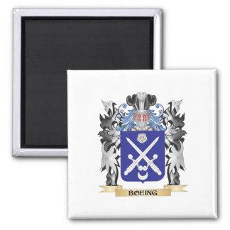 Escudo de armas de Boeing - escudo de la familia Imán Cuadrado