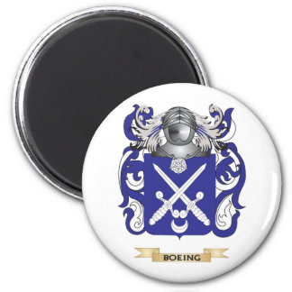 Escudo de armas de Boeing (escudo de la familia) Imán Redondo 5 Cm