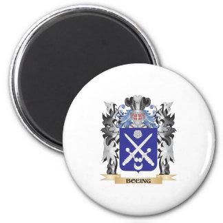 Escudo de armas de Boeing - escudo de la familia Imán Redondo 5 Cm