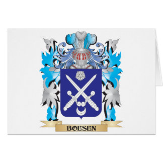 Escudo de armas de Boesen Felicitación